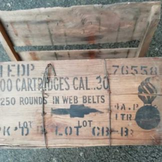 Caisse bois pour 4 boites à munitions cal.30