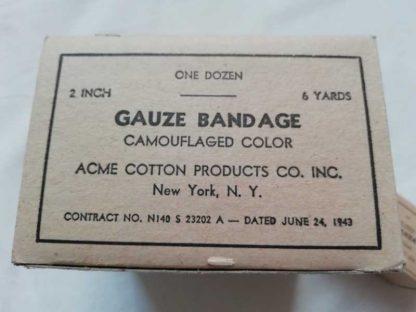 Boite de gaze ACME COTTON PRODUCT CO. (2inch/6yards)