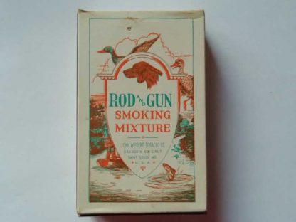 Paquet en carton vide de tabac ROD and GUN