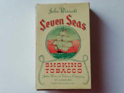 Paquet en carton vide de tabac SEVEN SEAS