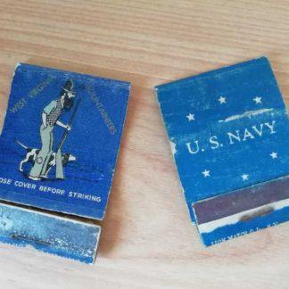Pochettes d'allumettes USN vides