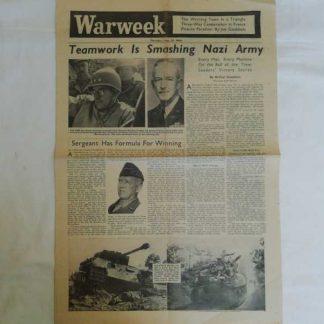 Journal WARWEEK du 31 aout 1944