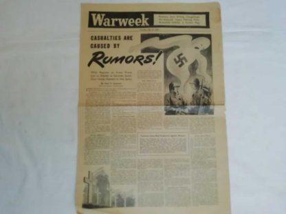 Journal WARWEEK du 21 octobre 1944