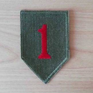 Insigne original 1° INFANTRY DIVISION (green back)